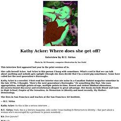 Kathy Acker interview