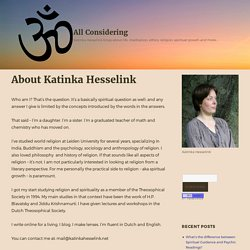 About Katinka Hesselink - All Considering