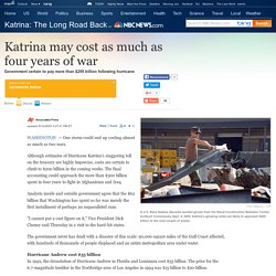 Katrina Cost May Exceed 4 Years of War