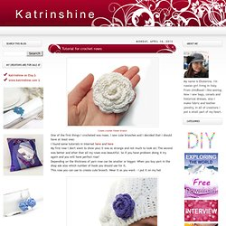 Tutorial for crochet roses