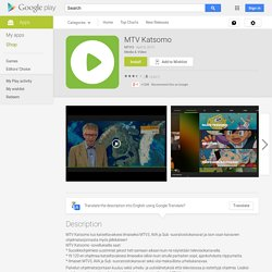 MTV Katsomo - Android Apps on Google Play