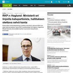 RKP:n Haglund: Ministerit eri linjoilla katupartioista, hallituksen otettava selvä kanta