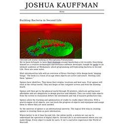 joshua kauffman> Renforcer les bactéries présentes dans Second Life