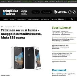 Tällainen on uusi Lumia – Kauppoihin maaliskuussa, hinta 229 euroa