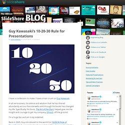 Guy Kawasaki's 10-20-30 Rule for Presentations