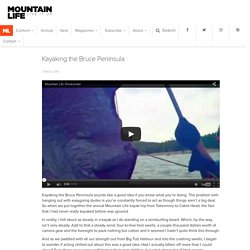 Kayaking the Bruce Peninsula - Mountain Life