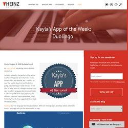 Kayla's App of the Week: Duolingo
