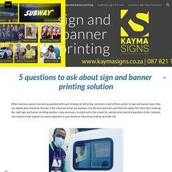 Kayma Signs - sign and banner printing