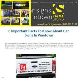 Kayma Signs - car signs Pinetown