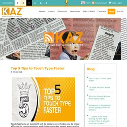 Top 5 Tips to Touch Type Faster
