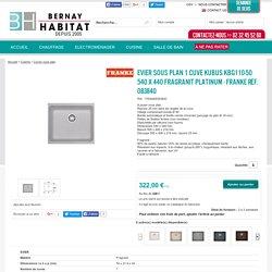 Evier sous plan 1 cuve Kubus KBG110-50 540 x 440 Fragranit Platinum - FRANKE Réf. 083840