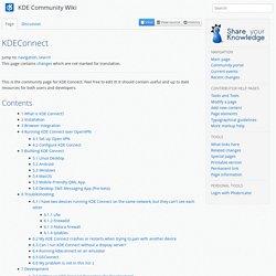 KDEConnect - KDE Community Wiki