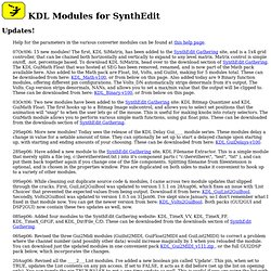 KDL's SynthEdit Modules
