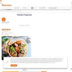 Kebab d'agneau : Recette de Kebab d'agneau