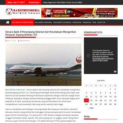Secara Ajaib 4 Penumpang Selamat dari Kecelakaan Mengerikan Pesawat Jepang Airlines 123