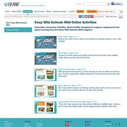 Keep Wild Animals Wild Online Activities