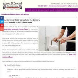 How to Keep Bathrooms Safe for Seniors