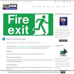 Keep Your Fire Exits Clear! - DDS International