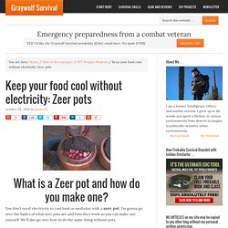 Keep your food cool without electricity: Zeer pots