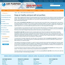 Keep air healthy and pure with air purifiers