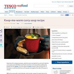 Keep-me-warm curry soup