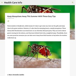 Keep Mosquitoes Away This Summer With These Easy Tips