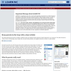 Keep parents in the loop with a class website