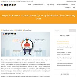 Keep Your Data Safe As A QuickBooks Cloud Hosting User