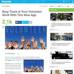 Keep Track of Your Volunteer Work With This New App