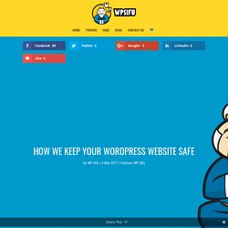 How we keep your WordPress website safe | WP Sifu