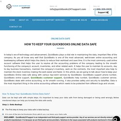 How to Keep Your QuickBooks Online Data Safe?