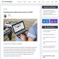 Keeping your data more secure in 2020 - TechEngage