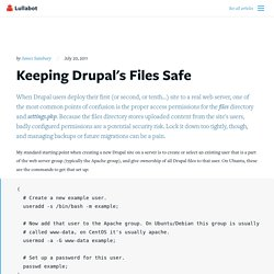 Keeping Drupal's Files Safe