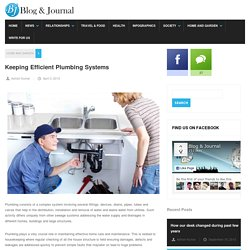 Keeping Efficient Plumbing Systems