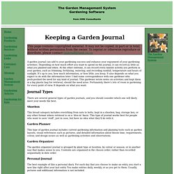 Keeping a Garden Journal