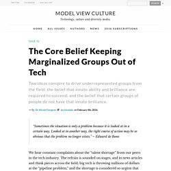 The Core Belief Keeping Marginalized Groups Out of Tech by Dr. Nicole Forsgren & Jez Humble