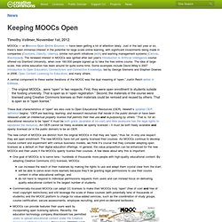 Keeping MOOCs Open