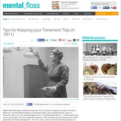 Tips for Keeping your Tenement Tidy (in 1911)