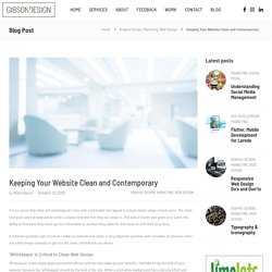 Keeping Your Website Clean and Contemporary