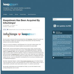 Has Been Acquired By Infochimps! / Keepstream