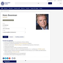Kees Boonman - University Leiden