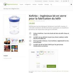 Kefirko - Ingénieux kit en verre pour la fabrication du kéfir
