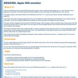 KEGS/SDL Apple IIGS emulator