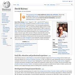 David Keirsey
