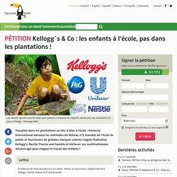 Kellogg´s & Co : les enfants à l'école, pas dans les plantations