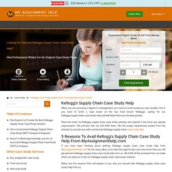 Kellogg's Case Study Supply Chain from Manufacturing to Shelf
