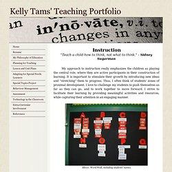 Kelly's Teaching Portfolio