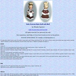 Kelly Crochet Victorian Style Outfit With Muff