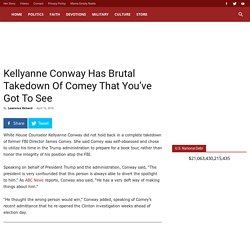 Kellyanne Conway Has Brutal Takedown Of Comey That You've Got To See - Sarah Palin