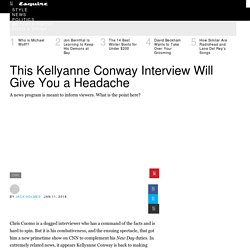 Chris Cuomo's Kellyanne Conway Interview Will Give You a Headache